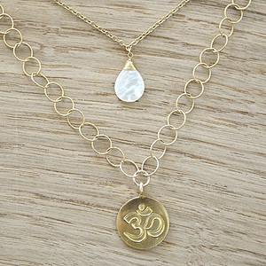 Double Necklace(Shell & OM) 2連ネックレス(シェル& OM コイン)