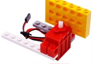 Geek servo  LEGOブロックを取り付けられるDCモーター