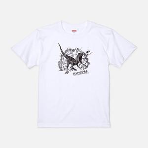 Tシャツ[リアルダイナソー]ヴェロキバースト ホワイト色