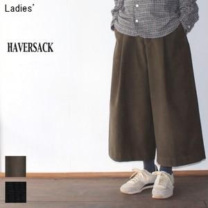 HAVERSACK モールスキンワイドパンツ Moleskin Wide Pants 361703 (KHAKI , BLACK)