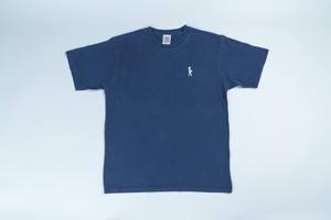 刺繍入りピグメントTシャツ(ネイビー)