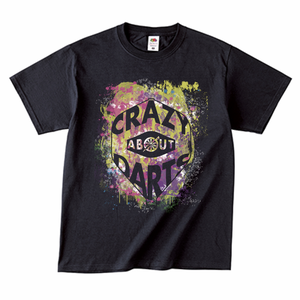 【雑誌掲載】ダーツフライトロゴファッションTシャツ(CRAZY ABOUT DARTS)