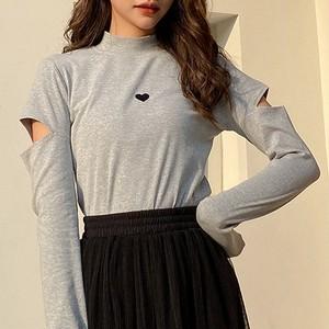 【トップス】細見え効果エレガント原宿スタイルタイトTシャツ