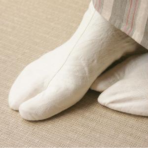 足袋【ジャガード織・リーフ柄】