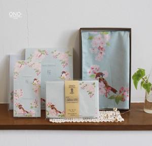 桜と雀 ギフトセット(ハンカチ&紙製品)