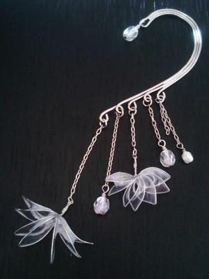 ディップイヤーフック *菱、銀真珠。
