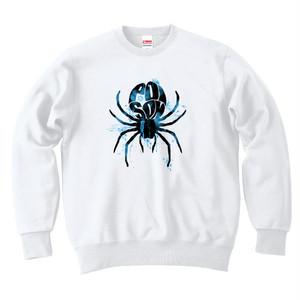 [スウェット] 毒蜘蛛 / white