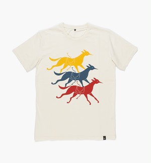 by Parra - t-shirt horse club (Natural)
