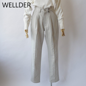 WELLDER/ウエルダー・Cotton-Linen Denim-ish Twill