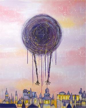 <額なし>ジークレ―絵画『CORONA』acrylic(2020)