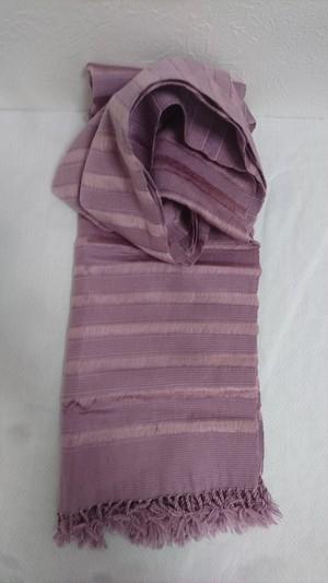 幸せの国ブータンから Lavender Fields (ラベンダー フィールズ) ブータン手織りスカーフ ANA by KARMA