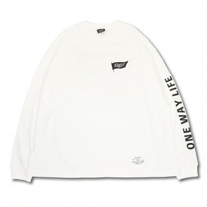 EVILACT(イーブルアクト) / Old Flag big silhouette T's L/S(white)