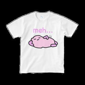 ファジー meh... Tシャツ (白)