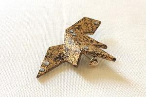金箔ブローチ leaf broach