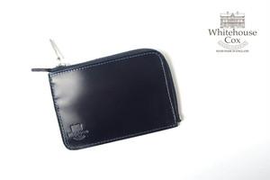 ホワイトハウスコックス|WHITEHOUSE COX|三越銀座店限定|ブライドルレザーLジップスリム財布|S1939|ネイビー