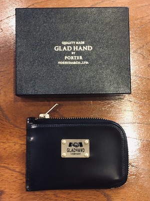 【GLAD HAND × PORTER】GH - BELONGINGS COIN CASE  FAMILY CREST /  BLACK