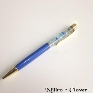 【天然石アクアマリン入り】海のイメージのボールペン