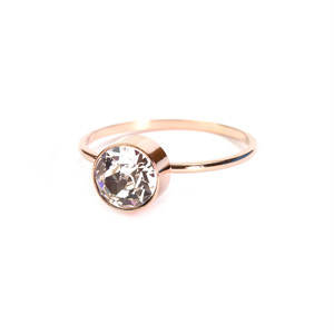 1 Stone Ring - Pink Gold
