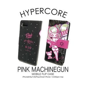 A-338 PINK MACHINEGUN iPhone&スマホ手帳型ケース