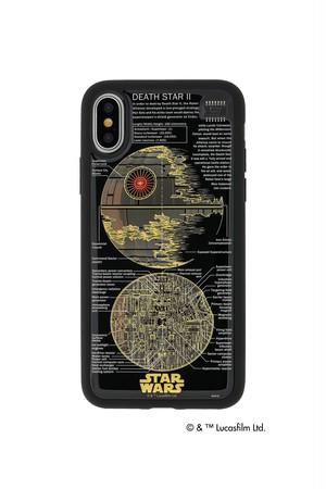 FLASH DEATH STAR 基板アート iPhoneXケース  黒【東京回路線図ピンズをプレゼント】