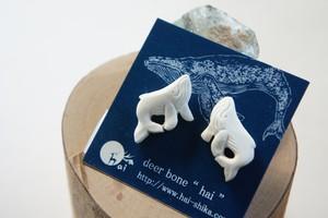 座頭鯨のピアス/イヤリング*deer bone*