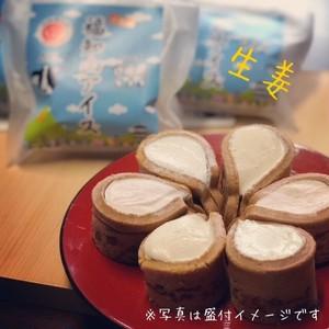 【単品】おせんべいアイス(福知山アイス) 生姜flavor