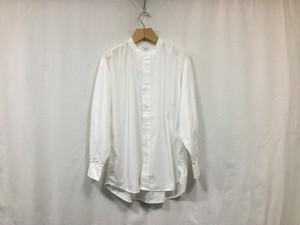 """Women's CIOTA """" スビンコットンタイプライターバンドカラーBIGシャツ"""" WHITE"""
