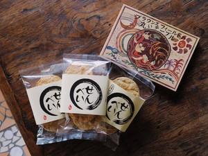 【¥470お得セット】3種のせんべい+書籍『ブラウンズフィールドの丸いテーブル』