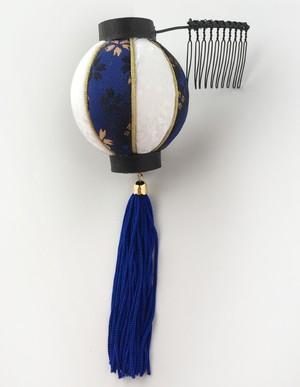 提灯髪飾り 【青】