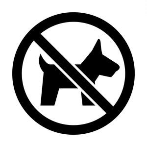 ペット・動物の入店を禁止するマークのカッティングステッカー