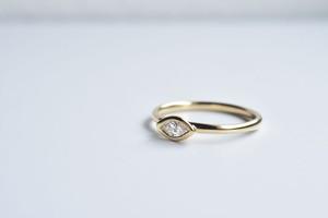 マーキスカット ダイヤモンドピンキーリング  0.098ct / K18YG