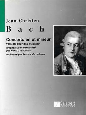 J.C.バッハ:協奏曲ハ短調(アンリ・カサドシュ編) / ヴィオラ・ピアノ