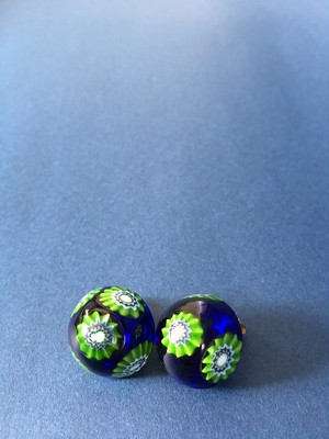 Venetian Glass Earrings-Round Pattern
