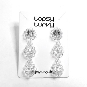 P1081 - Clear Floral dangle
