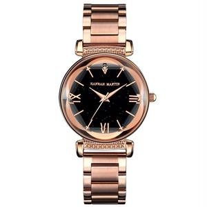 新日本MIYOTAムーブメントレディース高品質ブライトパープルステンレススチールマグネットメッシュ腕時計防水RelogioFemininoD7-F