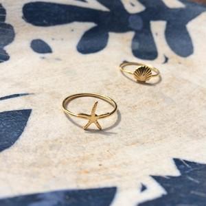 14KGF ゴールドフィルドヒトデリング 指輪