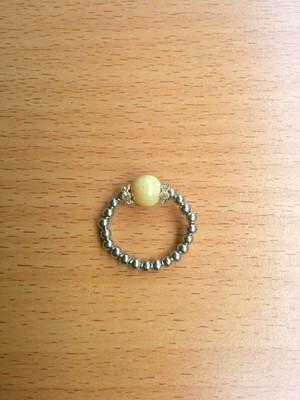 「イエローオパール」のキラキラ指輪~送料無料~