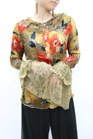flare sleeve blouse / BL11020010