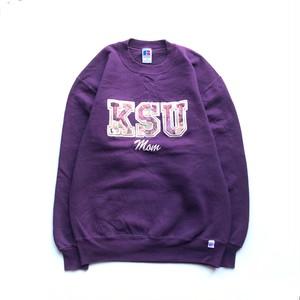 USED 90's Russell Athletic KSU MOM crewneck sweat - purple