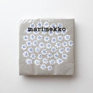 2020秋冬新作【marimekko】ランチサイズ ペーパーナプキン PUKETTI クリーム 20枚入り
