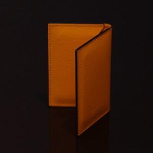 LIVERPOOL ORANGE / PINETTI DOUBLE BUISINESS CARD HOLDER CREAM(リバプール オレンジ / ピネッティ ダブルビジネスカードホルダー)