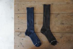 木星社 フレンチリネンのライン靴下