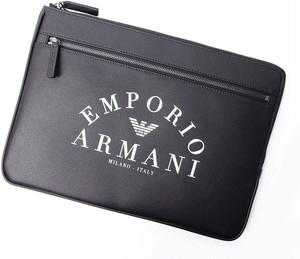 EMPORIO ARMANI エンポリオ アルマーニ クラッチバッグ Black [全国送料無料] r016754