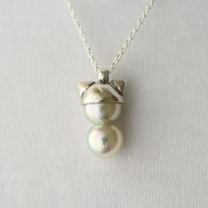 [Akoya]silverツインズ-ネコミミ- ネックレス