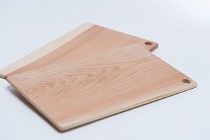 日本の木のプレート(四角)