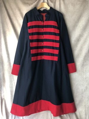 USA vintage stand collar dress coat