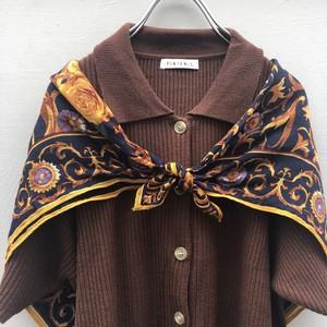 (PAL) flower paisley scarf