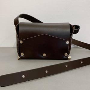 Body Shoulder Bag - Leather #Brown