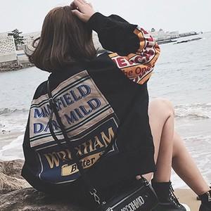 【アウター】原宿スタイル刺繍アルファベットプリントファッションジャケット