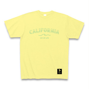CALIFORNIA -joy of life- メッセージTシャツ Number8 SURF CLUB(ナンバーエイトサーフクラブ)イエロー×スカイブルー